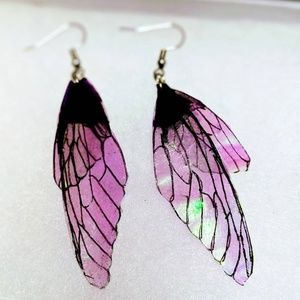 Unique Lightweight Cicada Fairy Wing Earrings